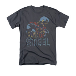 Image for Superman T-Shirt - Colored Lines
