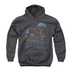 Image for Superman Youth Hoodie - Colored Lines