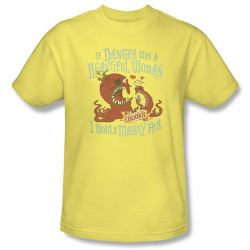 Image Closeup for Misadventures of Flapjack if Danger was a Beautiful Woman T-Shirt