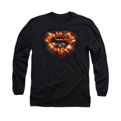 Image for Superman Long Sleeve Shirt - Space Burst Shield