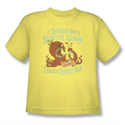 Image for Misadventures of Flapjack if Danger Woman Youth T-Shirt