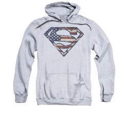 Image for Superman Hoodie - Wartorn Flag