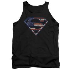 Image for Superman Tank Top - Wartorn Flag