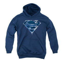 Image for Superman Youth Hoodie - Water Shield