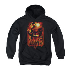Image for Superman Youth Hoodie - Metropolis Deco