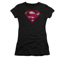 Image for Superman Girls T-Shirt - War Torn Shield