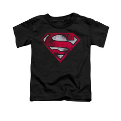 Image for Superman Toddler T-Shirt - War Torn Shield