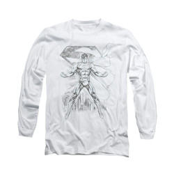 Image for Superman Long Sleeve Shirt - Super Sketch