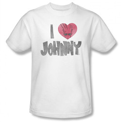 Image Closeup for Johnny Bravo I Heart Johnny T-Shirt