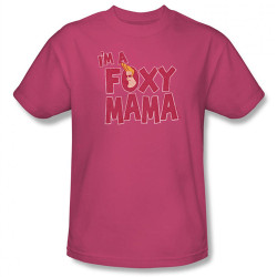 Image Closeup for Johnny Bravo I'm a Foxy Mama T-Shirt