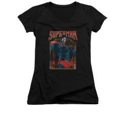 Image for Superman Girls V Neck - Head Bang