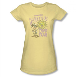 Image for Dexter's Laboratory Mandark Thank You Dark Forces Girls Shirt