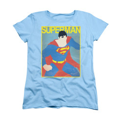 Image for Superman Womans T-Shirt - Simple Sm Poster