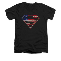 Image for Superman V Neck T-Shirt - Super Patriot