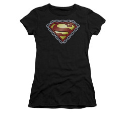 Image for Superman Girls T-Shirt - Chained Shield
