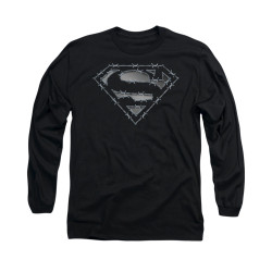 Image for Superman Long Sleeve Shirt - Barbed Wire