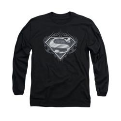Image for Superman Long Sleeve Shirt - Biker Metal