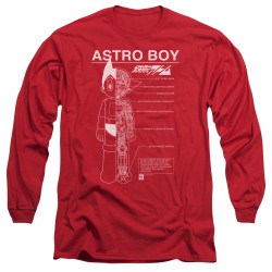 Image for Astro Boy Long Sleeve Shirt - Schematics