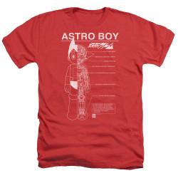 Image for Astro Boy Heather T-Shirt - Schematics
