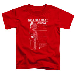 Image for Astro Boy Toddler T-Shirt - Schematics