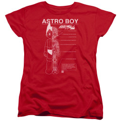 Image for Astro Boy Womans T-Shirt - Schematics
