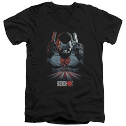 Image for Bloodshot V Neck T-Shirt - Blood Lines