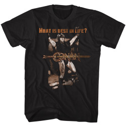Image for Conan the Barbarian T-Shirt - What is best in life?