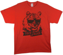 Image Closeup for Charlie Sheen Tiger Blood T-Shirt