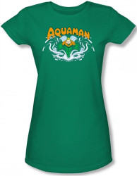 Image for Aquaman Splash Girls Shirt
