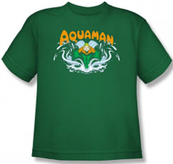 Image for Aquaman Splash Youth T-Shirt