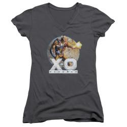Image for X-O Manowar Girls V Neck - Vintage Manowar
