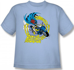 Image for Batgirl Motorcycle Youth T-Shirt