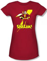 Image for Captain Marvel Shazam! Girls Shirt