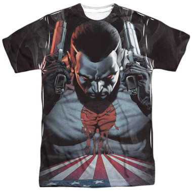 Image for Bloodshot Sublimated T-Shirt - World on Fire 100% Polyester