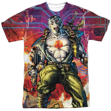 Image for Bloodshot Sublimated T-Shirt - Cyber War 100% Polyester