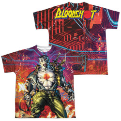 Image Closeup for Bloodshot Sublimated Youth T-Shirt - Cyber War