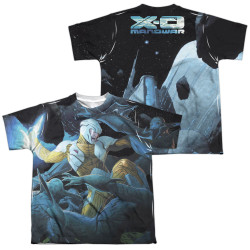 Image Closeup for X-O Manowar Sublimated Youth T-Shirt - Galactic Warrior