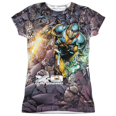 Image for X-O Manowar Girls Sublimated T-Shirt - Surrounded 100% Polyester