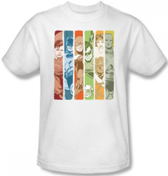 Image Closeup for Justice League of America Columns T-Shirt