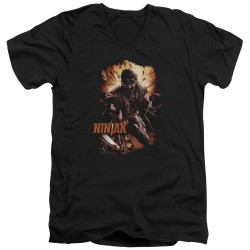 Image for Ninjak V Neck T-Shirt - Fiery