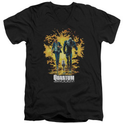 Image for Quantum and Woody V Neck T-Shirt - Explosion