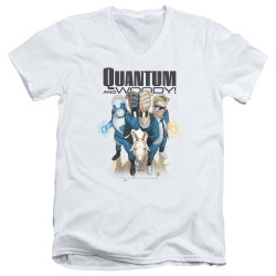 Image for Quantum and Woody V Neck T-Shirt - Fists Up!