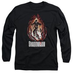 Image for Shadowman Long Sleeve Shirt - Burst