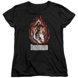 Image for Shadowman Womans T-Shirt - Burst