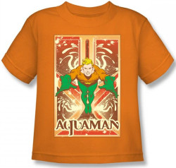 Image for Aquaman Diving Kid's T-Shirt
