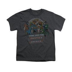 Image for Justice League of America Join the League Youth T-Shirt
