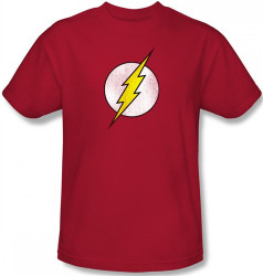 Image Closeup for Flash Distressed Logo T-Shirt