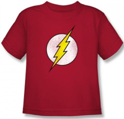 Image for Flash Distressed Logo Kid's T-Shirt