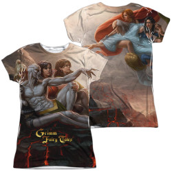 Image Closeup for Zenescope Girls Sublimated T-Shirt - Evil vs Good