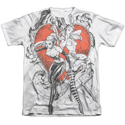 Image Closeup for Zenescope Sublimated T-Shirt - Black and White Heart